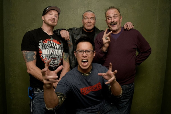 Photo of Scott Hall, Diamond Dallas Page, Jake the Snake Roberts and Steve Yu