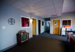 Photo of offline editing wing - Moonshine Studios on the Beltline in Atlanta old 4th ward, aka Beltline Studios, has in addition to its Sound Stage, a Producer's Room, Green Room, Private Entrance, Gated and Secure Parking, Private Bathrooms, Showers, and Cantina for Catering Space. We also offer full service Post Production services and over 10,000 square feet of production offices