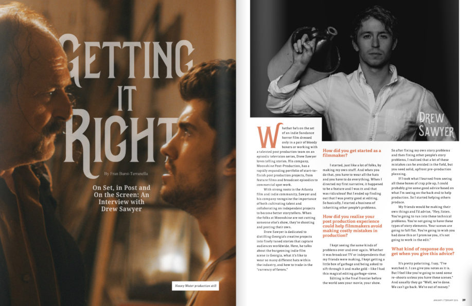 """""""Getting it Right"""" Oz Magazine features Moonshine's Drew Sawyer"""