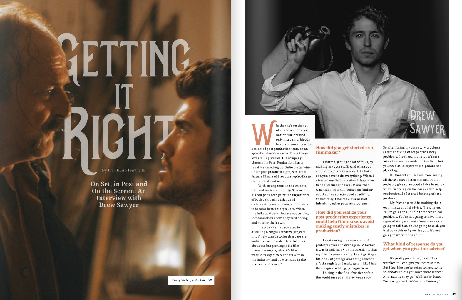 Why post production? Atlanta's own Oz Magazine wrote a fantastic featured article on our commander-in-chief here at Moonshine Post, Drew Sawyer.