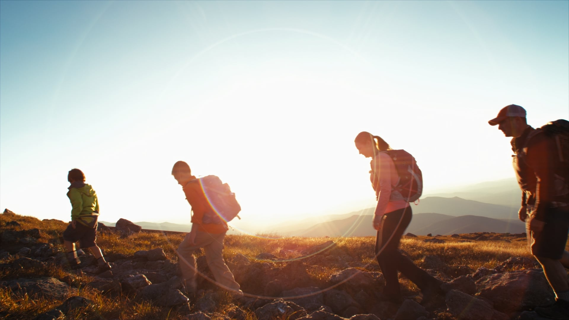 Still of people hiking from Visit New Hampshire commercial - With over 20 years of experience, Moonshine Post Production's John Petersen, our senior colorist, runs a tight ship with his colorists and he himself has colored and supervised the majority of feature films shot in the Atlanta area in the the last 5 years alone.