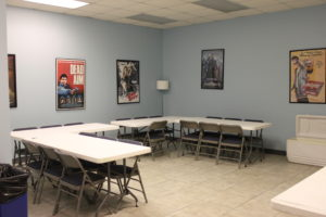 Photo of the Crafty Room - Moonshine's fully equipped 2200sq foot sound stage in Atlanta includes Green Room (for make-up and wardrobe), producer's suite, canteen, secured wardrobe storage area, and two private bathrooms.