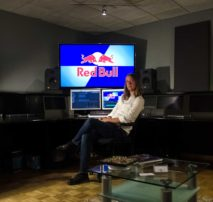 Photo of Patrick Perry, Moonshine Editor, taking on an original series by Red Bull as lead editor