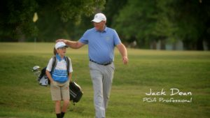 Still of Jack Dean from PGA of America Campaign created by Ideas United and directed by David Cone - color finishing by John Peterson of Moonshine Post Production in Atlanta Georgia