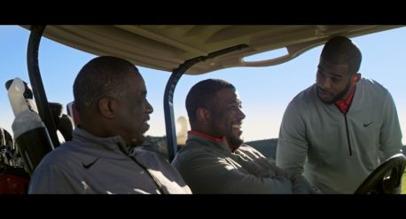Still from Chris Paul PGA of America Campaign created by Ideas United and directed by David Cone - color finishing by John Peterson of Moonshine Post Production in Atlanta Georgia