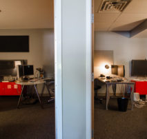 Shot of two of Moonshine Post Production's Offline Edit Suites in Atlanta Georgia