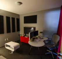 Still Photo of the inside an Offline Edit or Editors Suite at Moonshine Post Production in Atlanta Ga Georgia