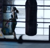 Shot of athlete in gym from 'When I Play' - ESPNW Spot, color correction DI by John Petersen and sound mix by John St. Denis at Moonshine Post Production in Atlanta Georgia