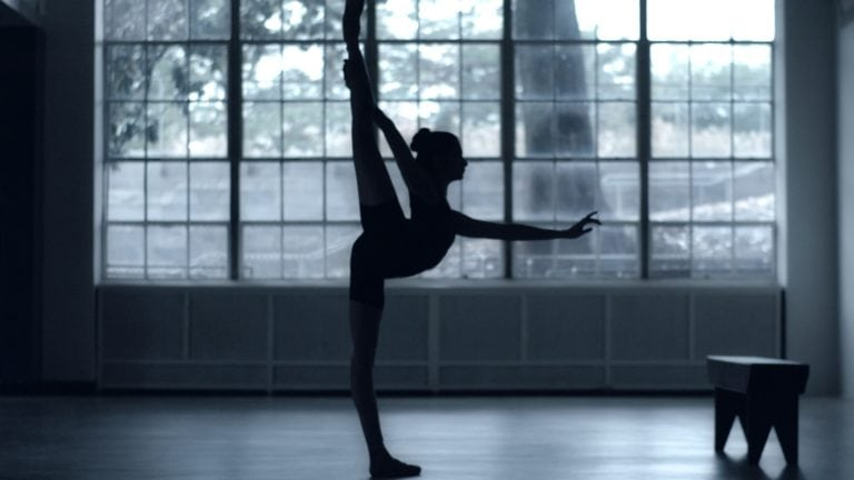Shot of gymnast from 'When I Play' - ESPNW Spot, color correction DI by John Petersen and sound mix by John St. Denis at Moonshine Post Production in Atlanta Georgia