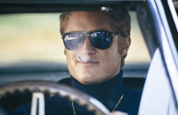 Movie still from Finding Steve McQueen starring Travis Fimmel - film dailies by John Petersen at Moonshine Post Production